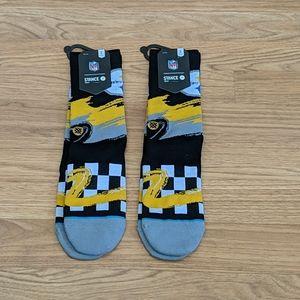 Nfl stance steelers socks 2 pair NWT